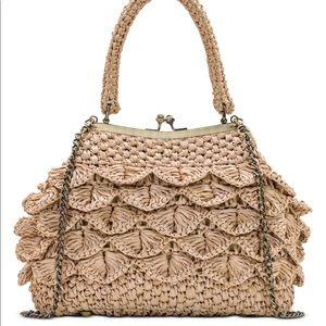 💖Patricia Nash Laureana Scalloped Raffia Satchel